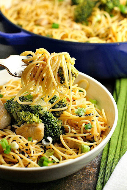 sesame noodles with chicken and broccoli recipe