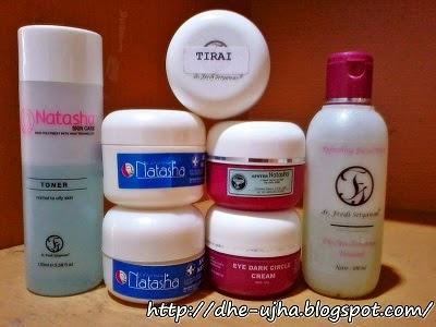 rangkaian produk natasha skin care yang saya gunakan