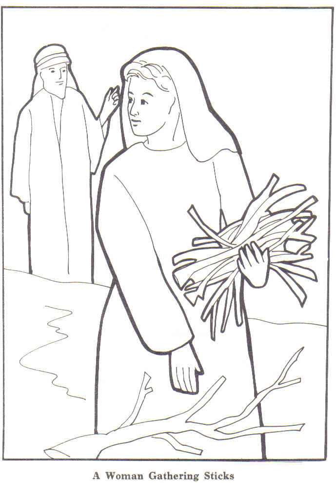 the widows gift coloring pages - photo#24