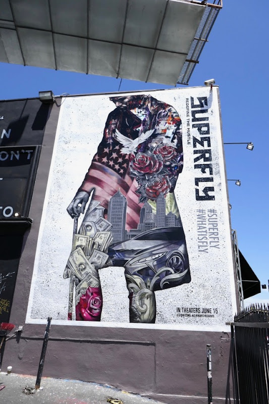 Superfly movie wall mural ad