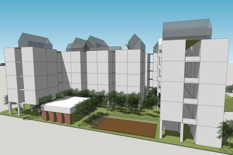 Begini Desain Kampung Susun Bukit Duri yang Diajukan ke Anies