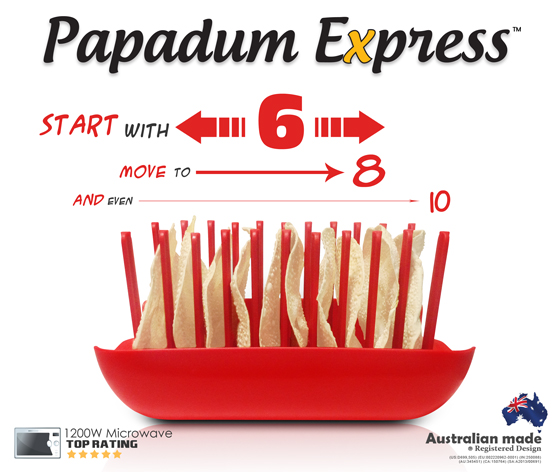 Indian Pappadums, Puppodums or Pappadams, Papadum Express