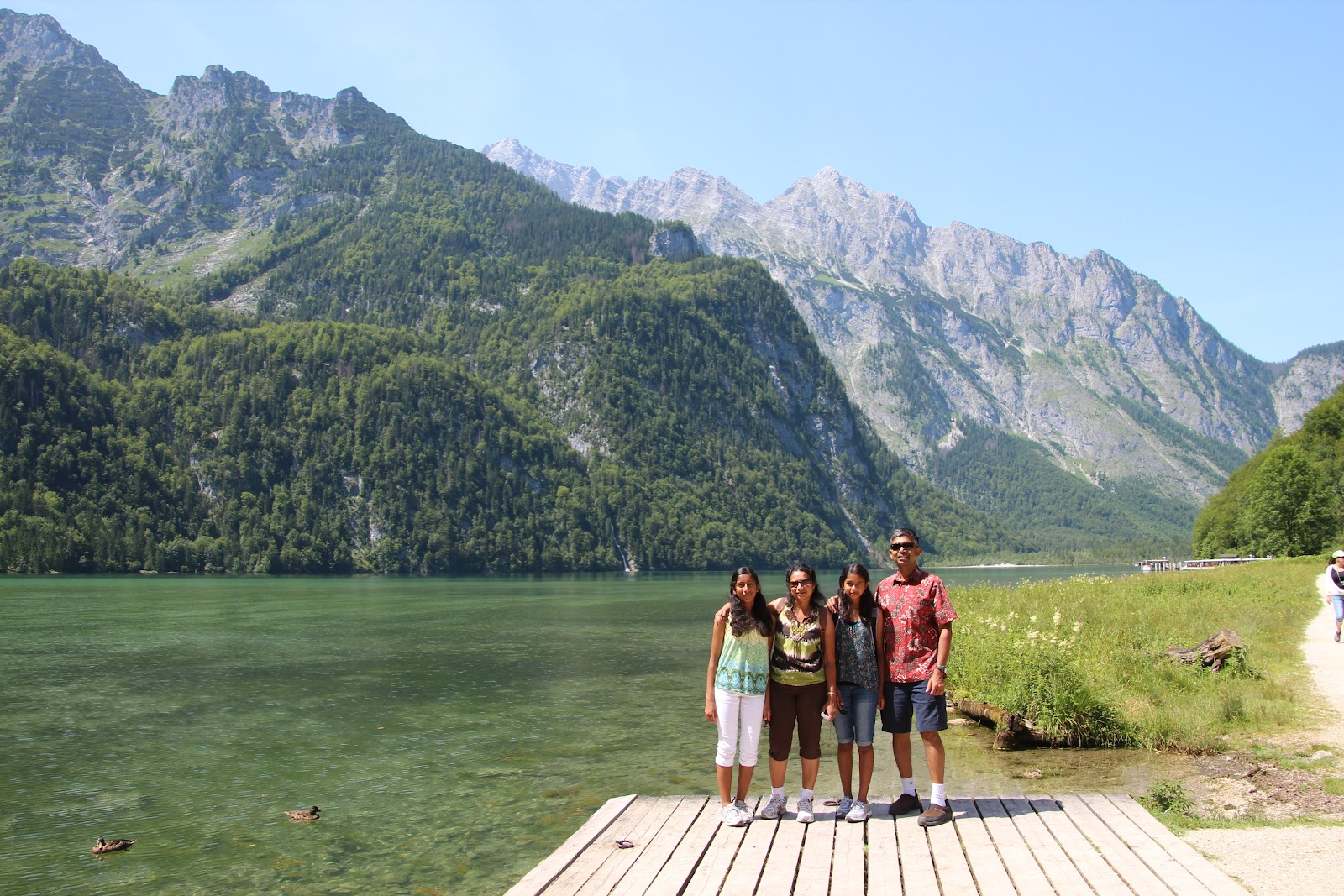 picturesque postcards: Lake Konigssee and Lake Obersee