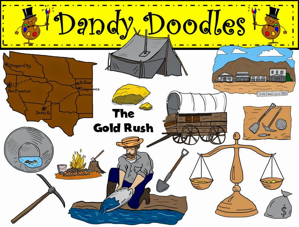 http://www.teacherspayteachers.com/Product/Gold-Rush-Clip-Art-by-Dandy-Doodles-1492698