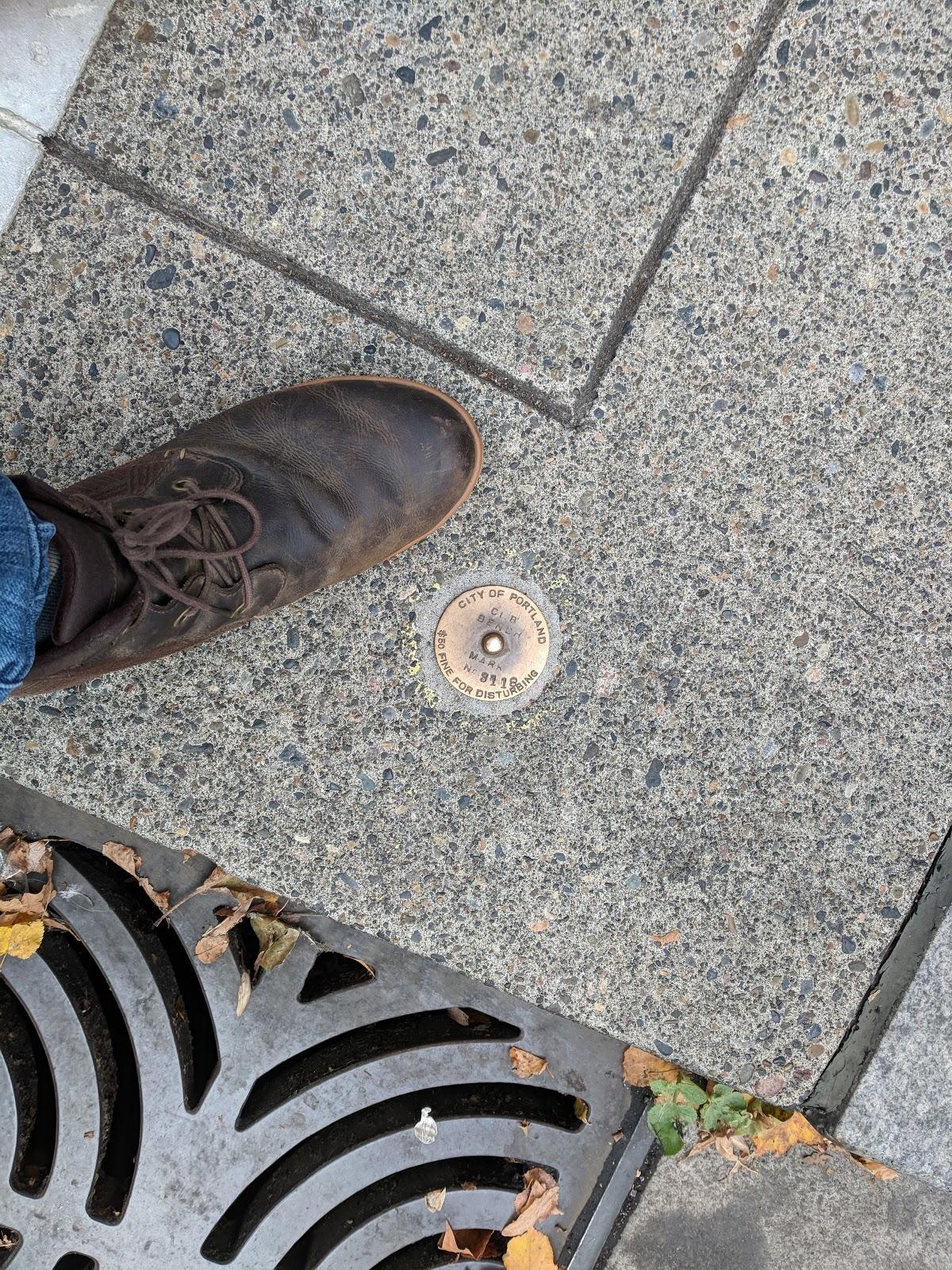 Portland survey markers