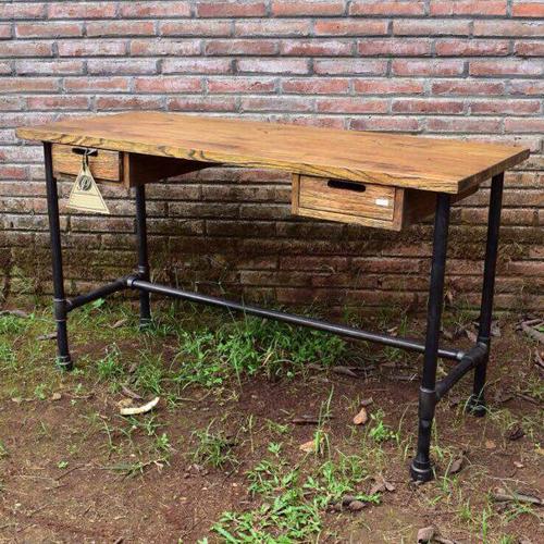 industrial office desks. Iron Industrial Office Desk Pipa Desks