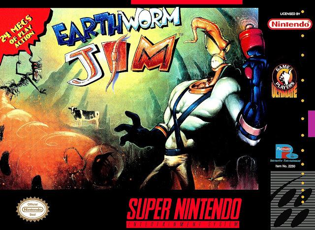 Earthworm Jim - SNES - Portada