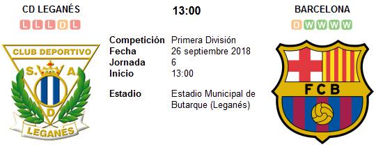 Leganés vs Barcelona en VIVO