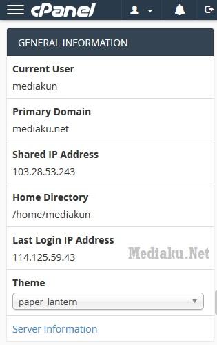 Mengetahui Informasi Server cPanel