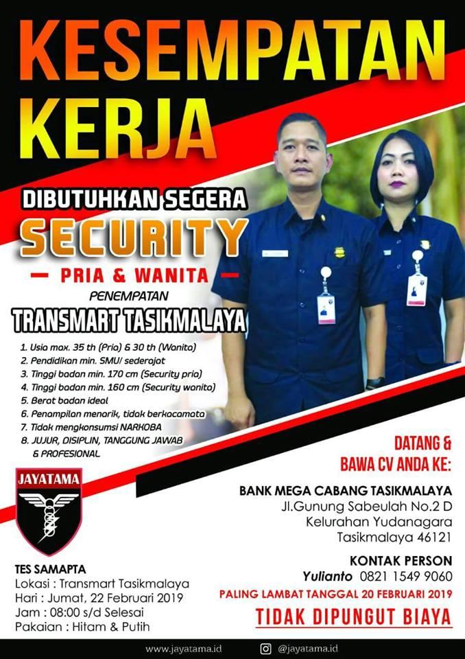 Lowongan Kerja Security Transmart Tasikmalaya Tahun 2019 Lowongan Kerja Terbaru Tahun 2020 Informasi Rekrutmen Cpns Pppk 2020