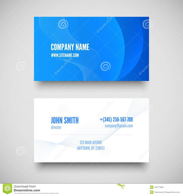 Vector Business Card Set  Elements For Design