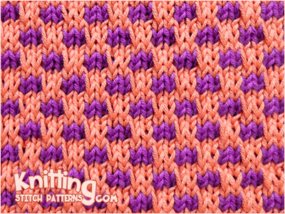 Check stitch - Simple slip stitch pattern and easy to knit in two color.