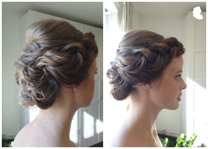 big front inverted braid with updo hair: Taming Rapunzel