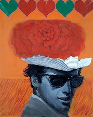 With Love to Jean-Paul Belmondo, Pauline Boty, oil on canvas 1962