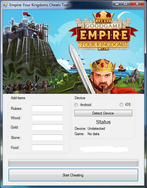 Hack empire four kingdoms android