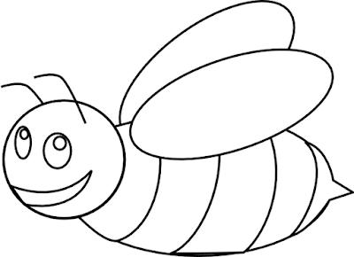 Gambar Mewarnai Lebah - 7