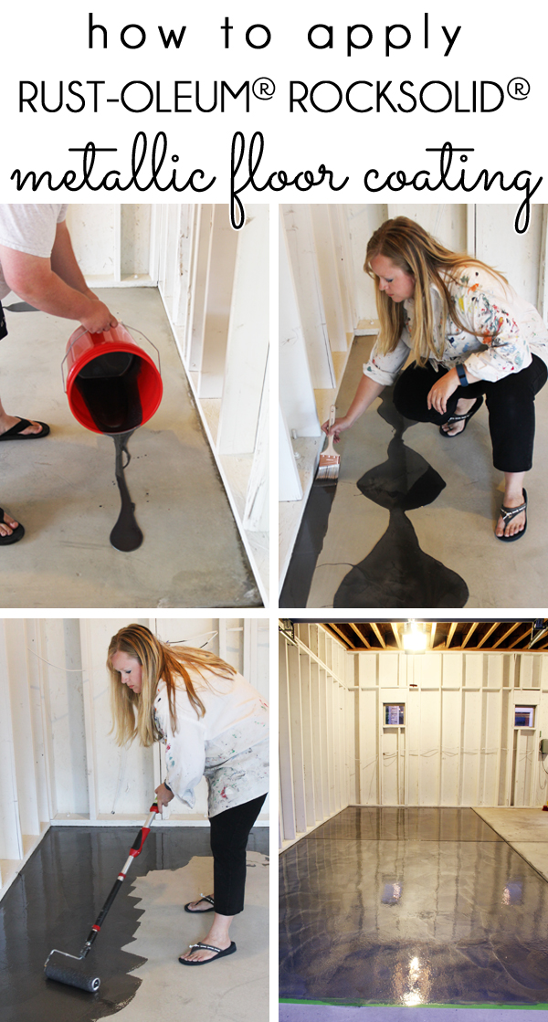 How To Apply RockSolid Metallic Garage Floor Paint