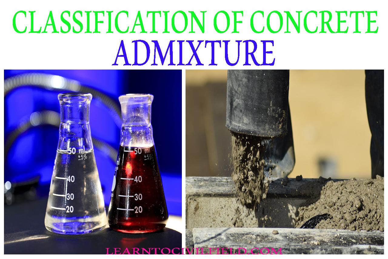 CLASSIFICATION OF CONCRETE ADMIXTURES ~ learntocivilfield com