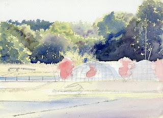 小春日和3 背景の林を塗る