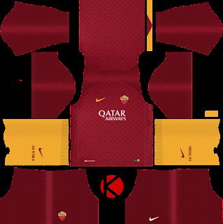 AS Roma 2018/19 home Kit - Dream League Soccer Kits