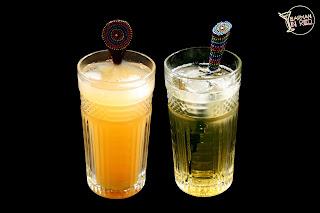 2 bebidas cantaros y alharaco barmaninred