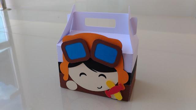 caixa aviador pequeno príncipe