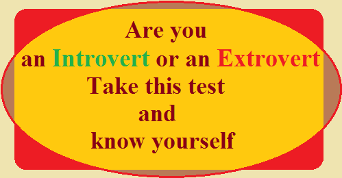 Introvert and Extrovert Test
