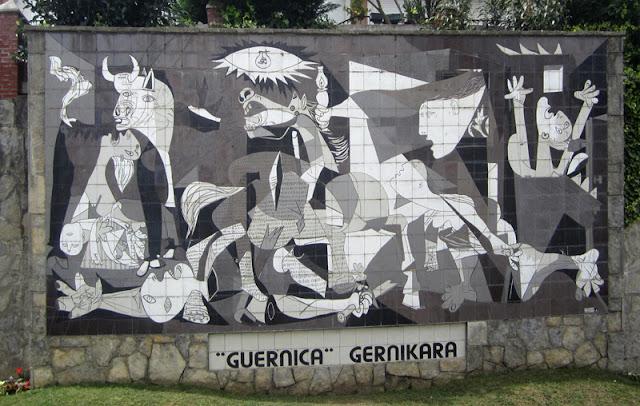 Mural del cuadro Gernika de Picasso