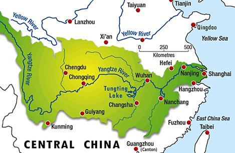 rio yangtsé ubicacion