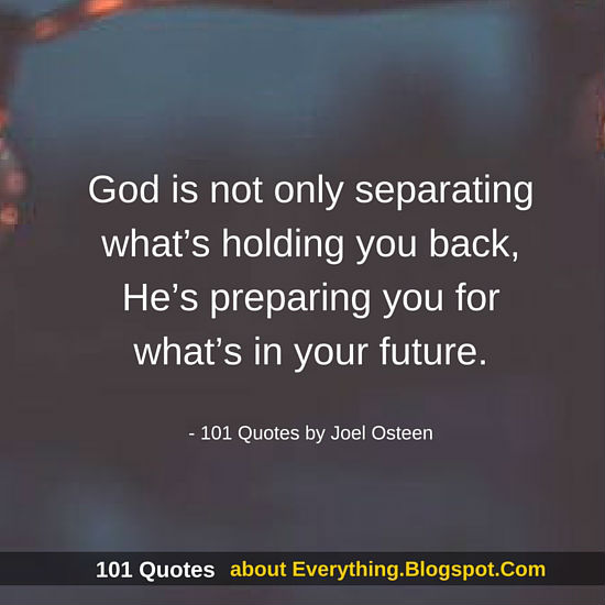 God Is Not Only Separating Whats Holding You Back Joel Osteen