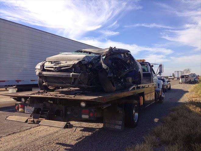 highway 99 46 crash kern county north bakersfield honda