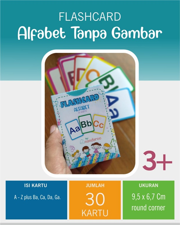 Flash Card Alfabet Tanpa Gambar