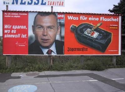 Wahlwerbung SPÖ und Jägermeister Werbung