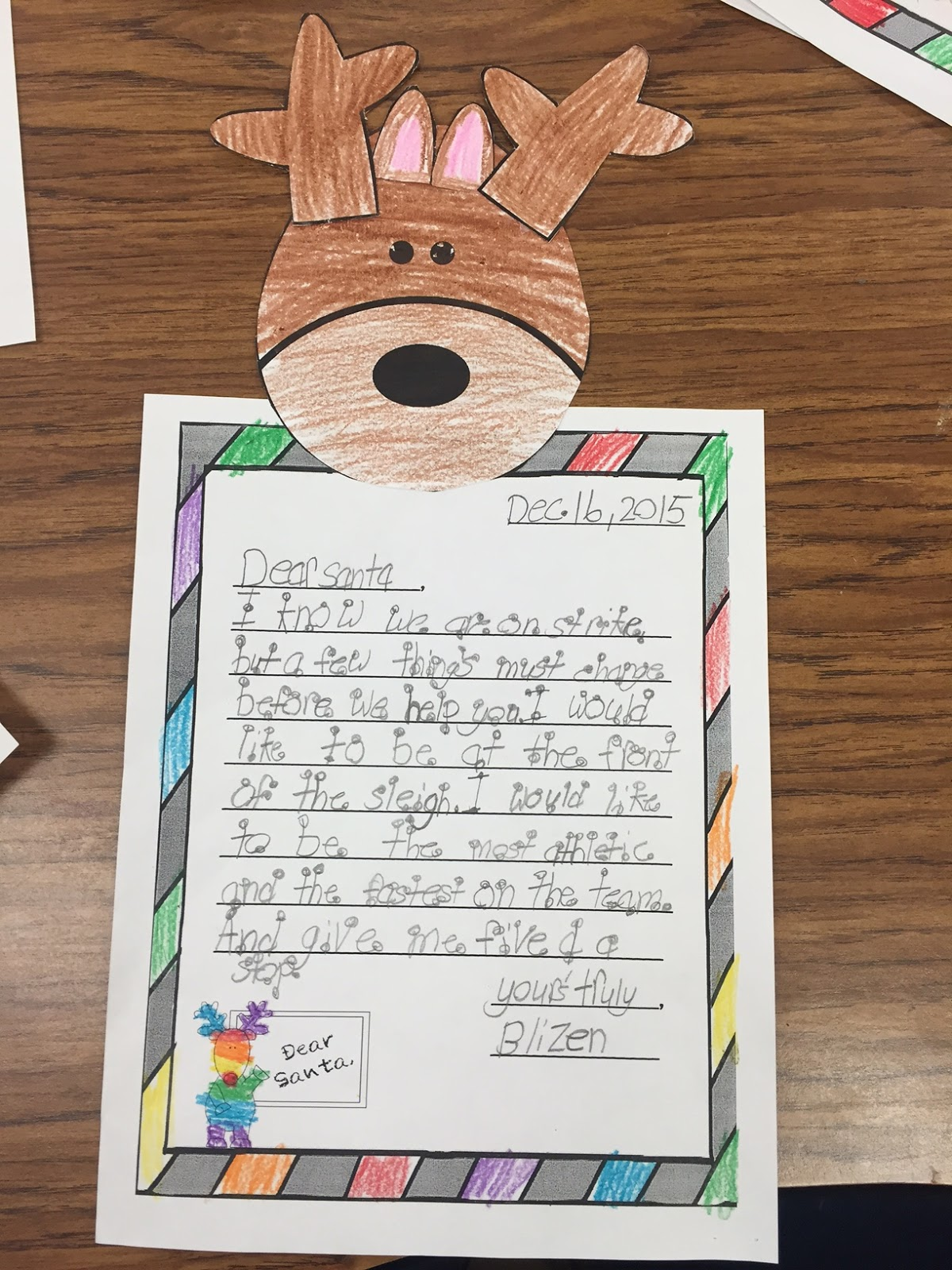 Mrs Megown S Second Grade Safari The Great Reindeer Rebellion Letter Writing Activities