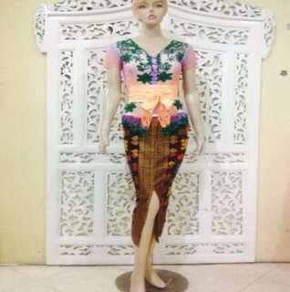 gambar rok span batik modern
