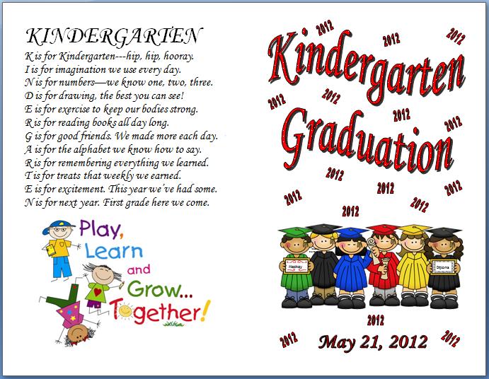 Kindergarten Poetry Book Cover ~ Keeping focused kindergarten graduation