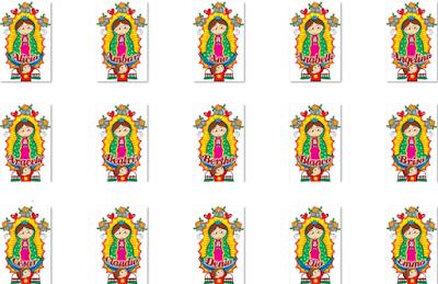 32b15cfe3fb6 60 ilustraciones de la Virgen de Guadalupe con nombres de mujeres para  compartir con amigas y familiares - 12 de diciembre