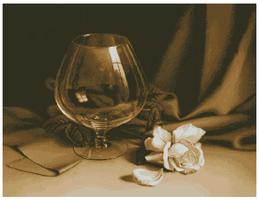 Бокал и роза