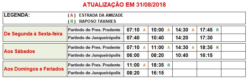Jandaia Horarios Junqueirópolis