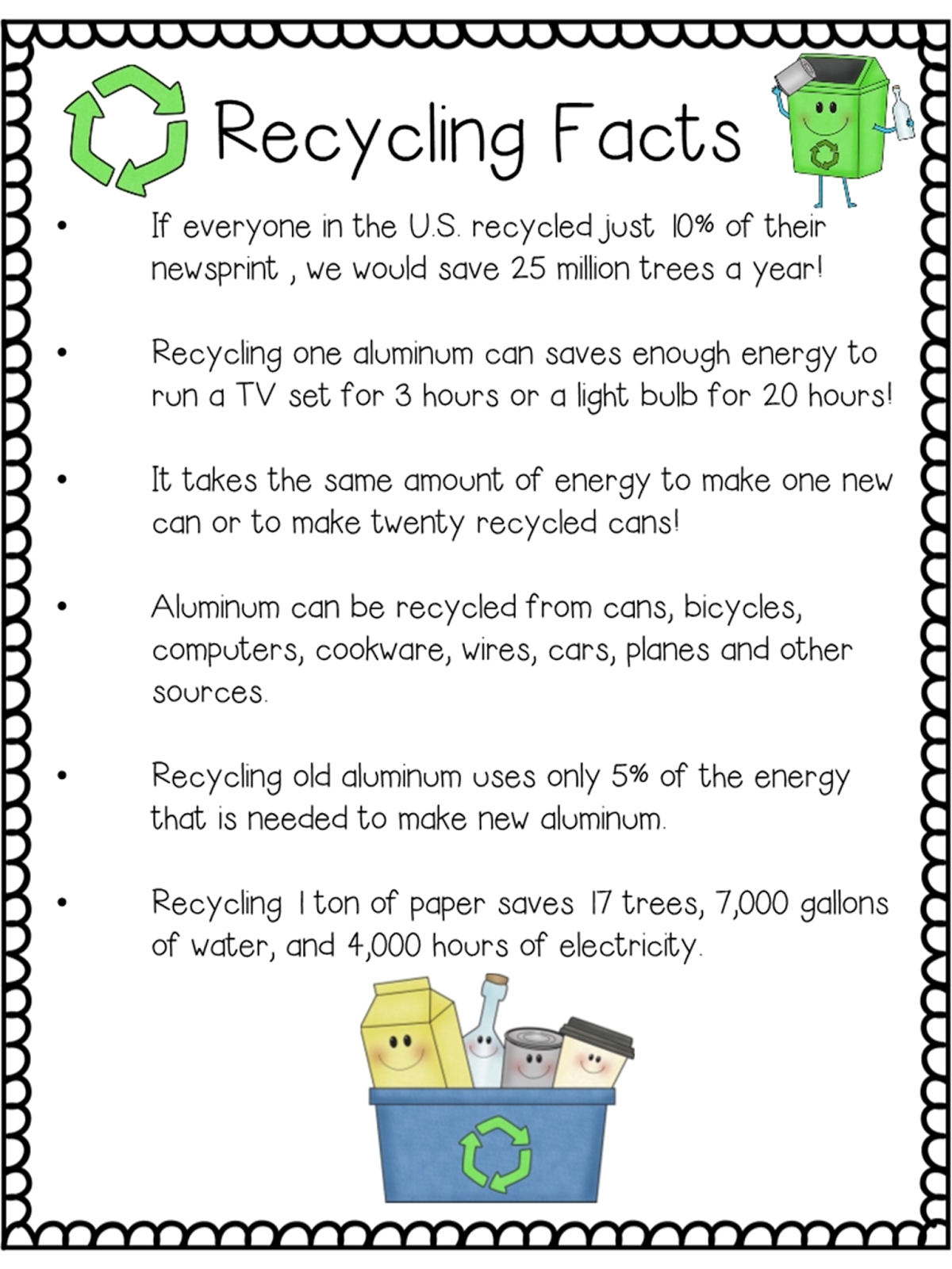 Classroom Freebies Too Earth Day Recycling Closeread