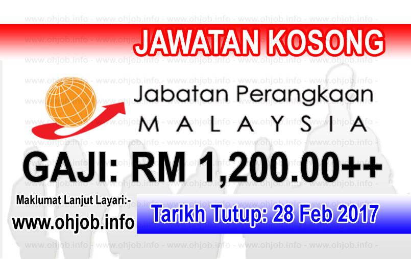 Jawatan Kerja Kosong Jabatan Perangkaan Malaysia logo www.ohjob.info februari 2017