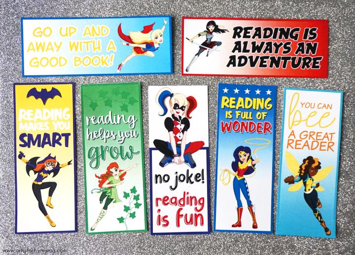 Free Printable DC Superhero Girls Bookmarks