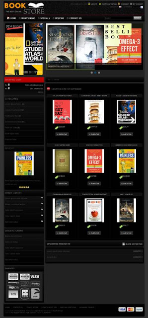 Oscommerce 2.3.3 template for book store