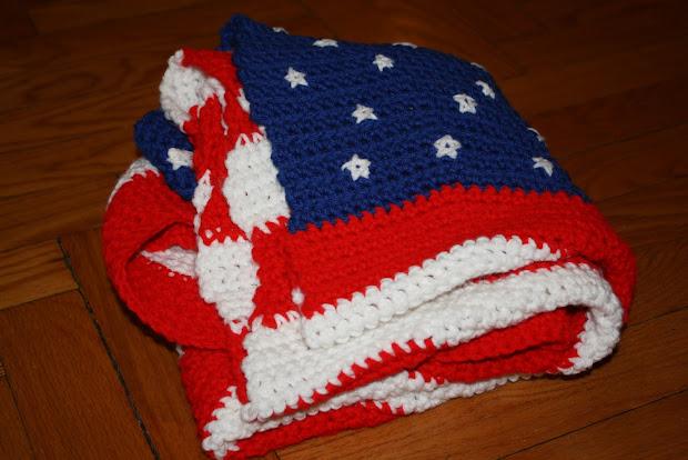Charm Hour American Flag Blanket