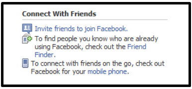 facebook login friends finder