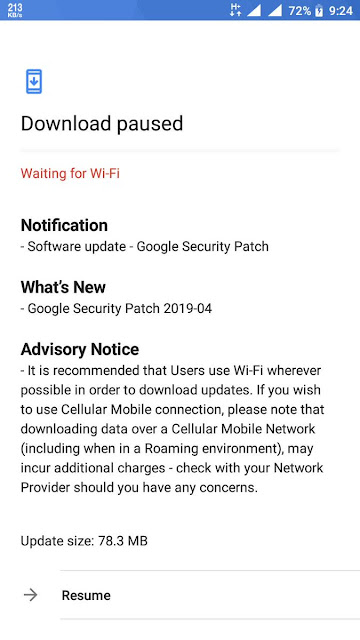 Nokia 3 receiving April 2019 Android Security update