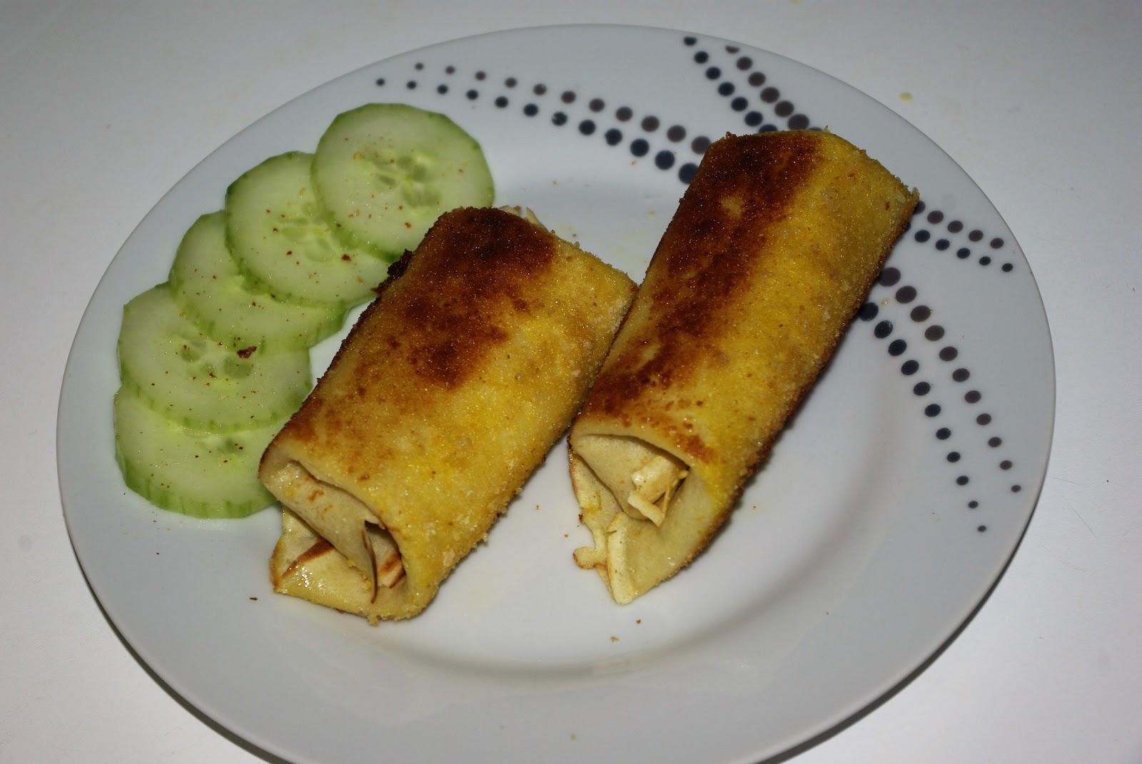 Naleśniki/krokiety z parówką i warzywami
