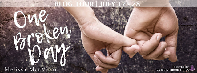 [Book Tour] ONE BROKEN DAY by Melissa MacVicar @MelissaMacVicar @YABoundToursPR #UBReview #Playlist #Excerpt #Giveaway