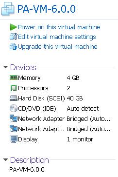 Configure Palo Alto VM 6 0 0 in Vmware Workstation and ESXi – Cyber