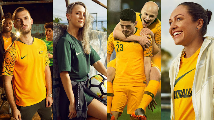 665b3d809bf Australia 2018 World Cup Home and Away Kits + Pre-Match Jersey Revealed